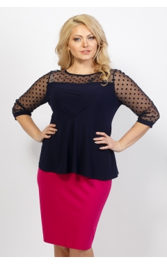 Блуза Баска (тёмно-синий)