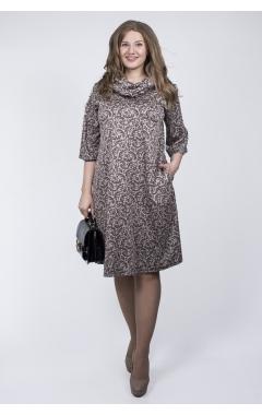 Платье Беатрис (бежевый принт)