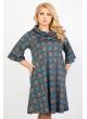 Платье Берта (синий/узор)
