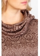 Платье Берта (бежевый/коричневый/узор)