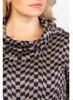 Платье Берта (бежевый/синий/графика)