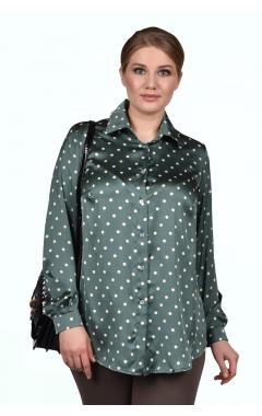 """Блуза """"Горох"""" (горох/зелёный)"""
