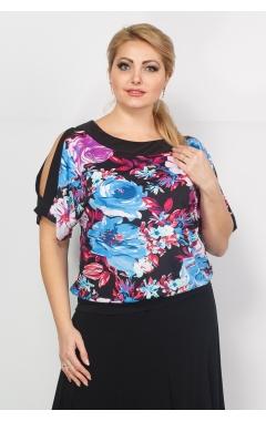 Блуза Шарм (цветы/сирень)