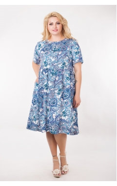 Платье Сити (белый/синий)