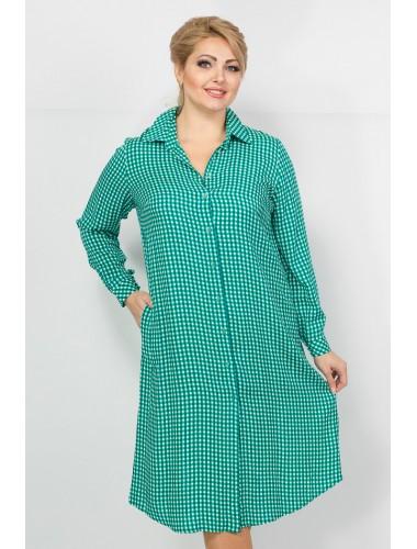 Платье Дейзи (зеленый/клетка)
