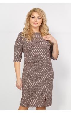 Платье Диор (коричневый принт)