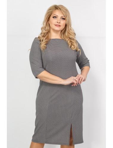 Платье Диор (серый принт)