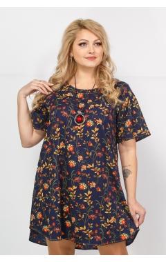 Платье Долорес (синий/принт)