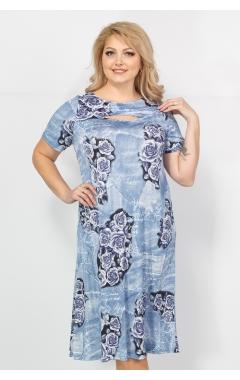 Платье Флирт (джинс/голубой)