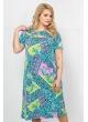 Платье Флирт (бирюза/ розовый)