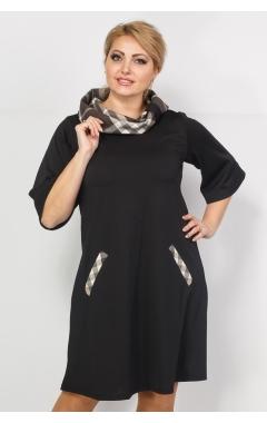 Платье Гера (чёрный/клетка)