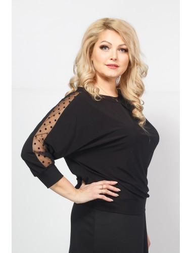 Блуза Горошина (чёрный)