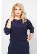 Блуза Горошина (тёмно-синий)