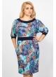 платье Индира (синий/принт)