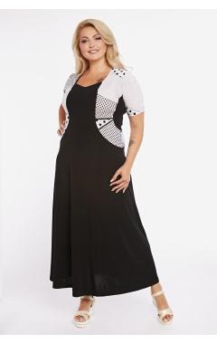 платье Каролина (черно-белый)