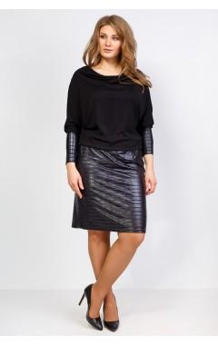Платье Кэт (чёрный/жатка)