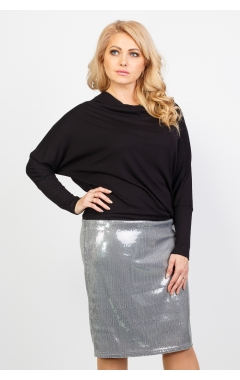 Платье Кэтрин (чёрный/серый)