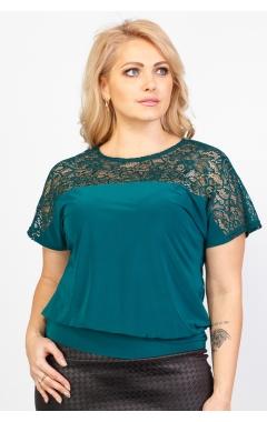Блуза Кружево (тёмно-зелёный)