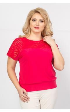 Блуза Кружево (розовый)
