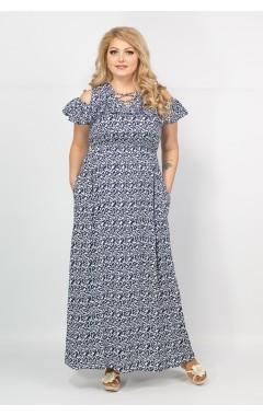 Платье Лейла (сине-белый)