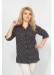 Блуза Лаки (горох на черном)
