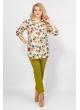 Блуза Лаки (беж/цветы)