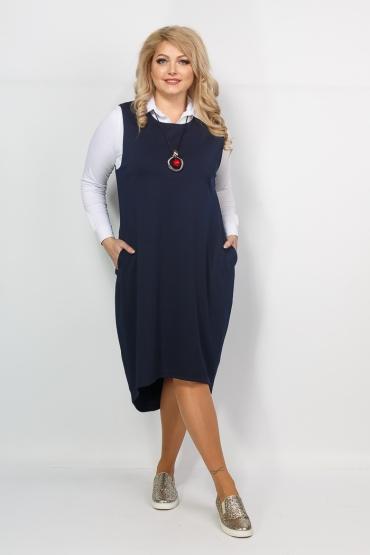 сарафан Маргарита (тёмно-синий)