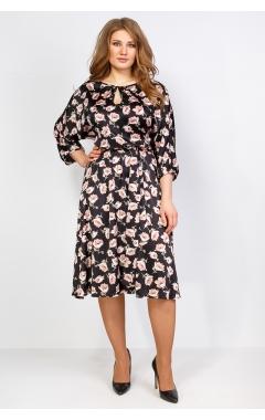 Платье Марго 2 (чёрный/бежевый)