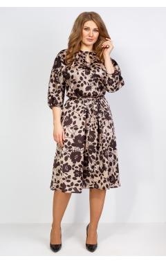Платье Марго 2 (бежевый/коричневый)