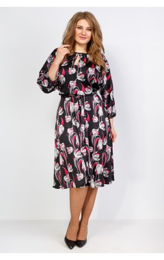 Платье Марго 2 (чёрный/красный)