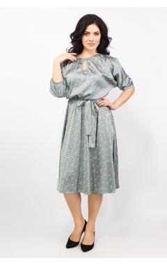 Платье Марго (серый/цветы)