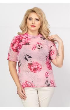 Блуза Мария (розы/розовый)