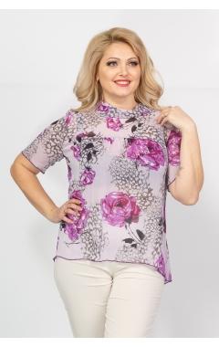 Блуза Мария (розы/сирень)