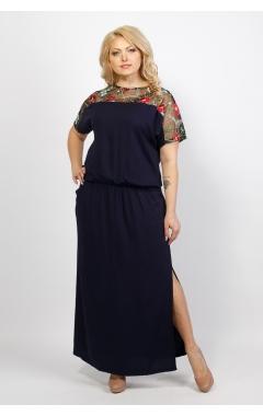 Платье Сакура (тёмно-синий)
