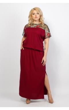 Платье Сакура (бордо)