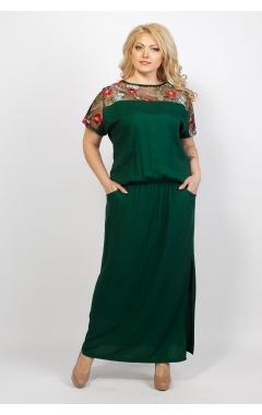 Платье Сакура (зелёный)