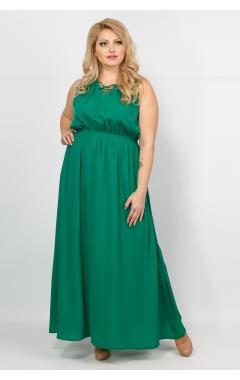 Платье Полина (зелёный)