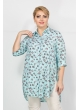 блуза Прима (бирюза/принт бабочки)
