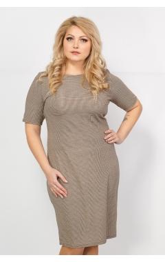 Платье Рим (клетка/бежевый)