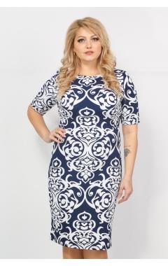 Платье Рим (синий/белый)