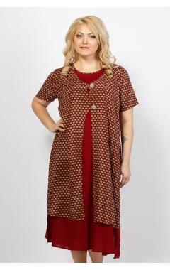 Платье Сардиния (бордо/графика)