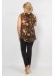 блуза Сицилия (черный/коричневый)