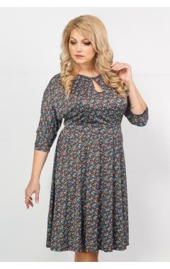 Платье Софи (шоколад/принт)