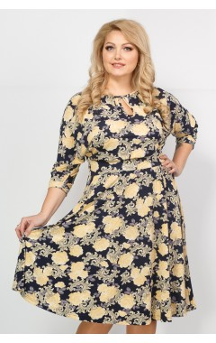 Платье Софи шоп (принт розы)