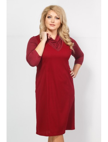 Платье Тея (бордо)