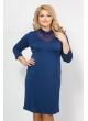 платье Тея гипюр (синий темный)