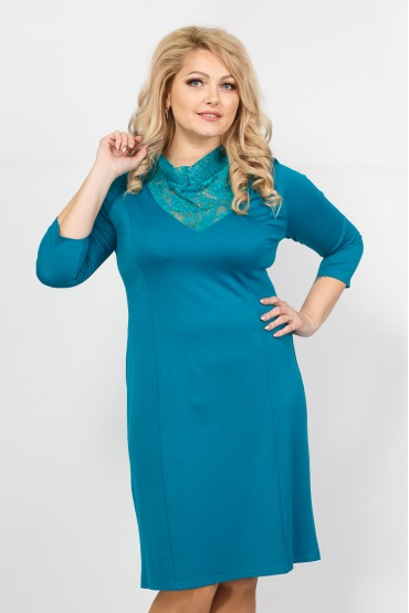 Платье Тея гипюр (бирюза)
