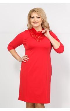 Платье Тея гипюр (красный)
