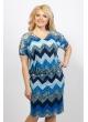 Платье Ульяна (принт/синий)