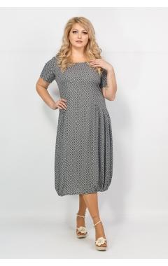 Платье Веста (серый принт)